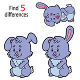 Diferencias del conejito de pascua ilustración del vector