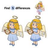 Diferencias del hallazgo: Caracteres de Halloween (traje del ángel) Fotos de archivo libres de regalías
