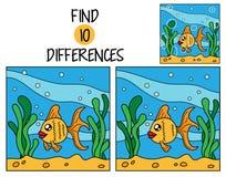Diferencias del hallazgo diez Fotografía de archivo