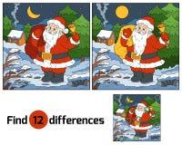 Diferencias del hallazgo para los niños: Santa Claus con una campana ilustración del vector