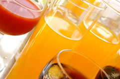 Diferent Drinks. Photo with diferent kind of drinks stock images