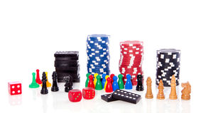 Diferent sorts indoor games Royalty Free Stock Image