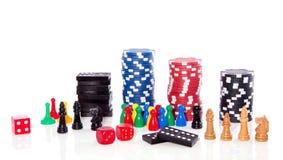 Diferent Sorts Indoor Games Royalty Free Stock Image