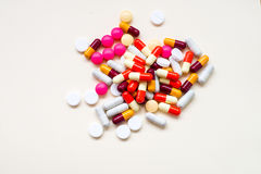 Diferent Tablets pills capsule Royalty Free Stock Photos