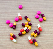 Diferent Tablets pills capsule Royalty Free Stock Photo