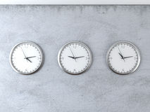 Diferent time zones Royalty Free Stock Images