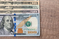 Diferente dólar americano Fotos de Stock Royalty Free
