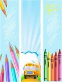 Diferente de nuevo a banderas de escuela libre illustration
