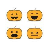 Diferente helloween ícones da abóbora Imagens de Stock
