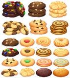 Diferente tipo de galletas stock de ilustración