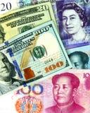 Diferentes tipos de billetes de banco fotos de archivo libres de regalías