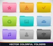 Diferentes tipos de carpetas ilustración del vector