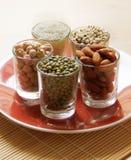 Diferentes tipos de granos Foto de archivo