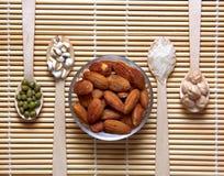 Diferentes tipos de granos Imagen de archivo libre de regalías