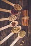 Diferentes tipos de ingredientes Fotos de archivo