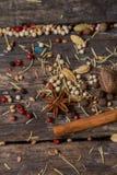 Diferentes tipos de ingredientes Imagen de archivo libre de regalías