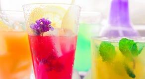 Diferentes tipos de limonadas frescas Imágenes de archivo libres de regalías