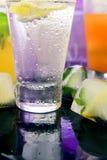 Diferentes tipos de limonadas frescas Imagen de archivo libre de regalías