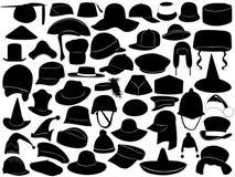 Diferentes tipos de sombreros ilustración del vector