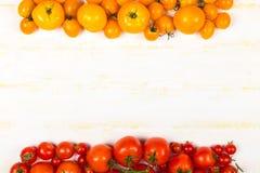 Diferentes tipos de tomates frescos Imagen de archivo libre de regalías