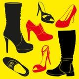 Diferentes tipos de zapatos Fotos de archivo