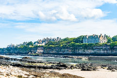 Diferents views of the St. Andrews beach in his bay, next the fa Royalty Free Stock Photos