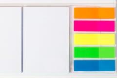 Diferentstypes van kleverige nota's Royalty-vrije Stock Foto