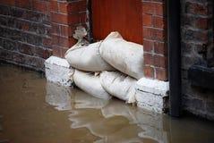 Difese dell'inondazione fotografia stock libera da diritti