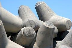 Difese di porto concrete Fotografia Stock