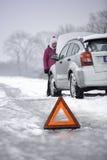 Difetto dell'automobile nella stagione invernale Fotografia Stock