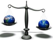 Différence économique d'équilibre illustration libre de droits