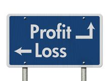 Différence entre de profits et pertes image stock