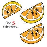 Différences de citron Photos libres de droits