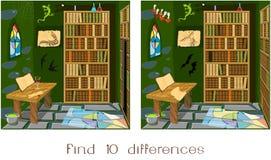 Différences de la découverte dix illustration libre de droits