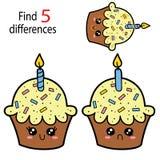 Différences du petit gâteau 5 Image libre de droits