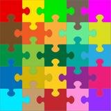 Différent coloré 25 morceaux de puzzle - puzzle illustration stock