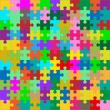 Différent coloré 121 morceaux de puzzle - puzzle illustration de vecteur