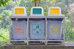 Différent réutilisez les poubelles Photographie stock