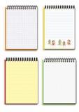 différent videz quatre cahiers réglés Image stock