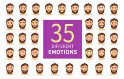 Différentes émotions illustration stock