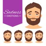 Différentes émotions illustration libre de droits