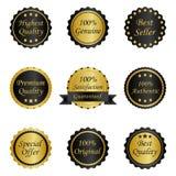 Différentes étiquettes Photographie stock libre de droits