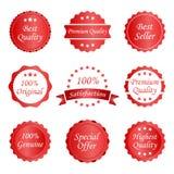 Différentes étiquettes Photo stock