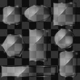 Différentes bannières en verre Images stock
