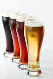 Différentes bières photos stock