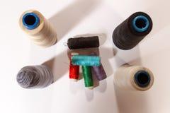 Différentes bobines colorées d'amorçages Images libres de droits