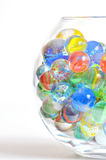 Différentes boules en verre Photo stock