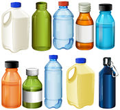 Différentes bouteilles illustration stock