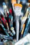 Différentes brosses de peinture Photos stock