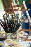 Différentes brosses de peinture Image stock